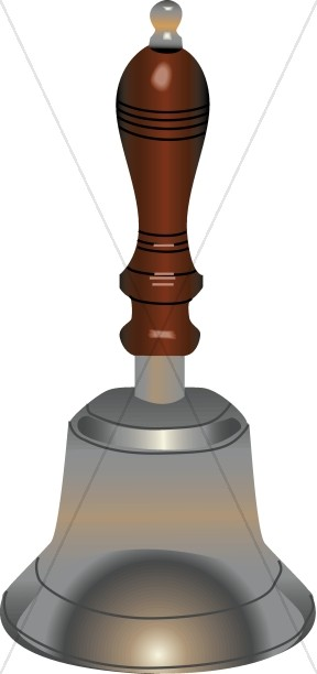 Single Realistic Hand Bell
