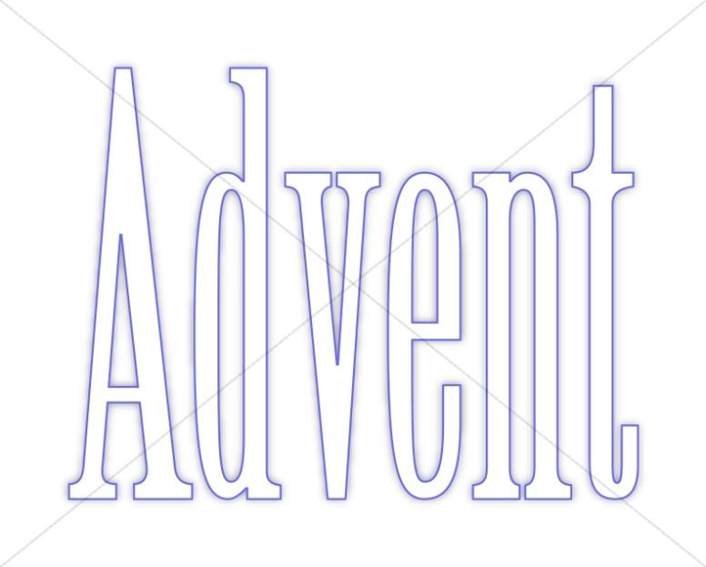 Blue Outline Simple Advent