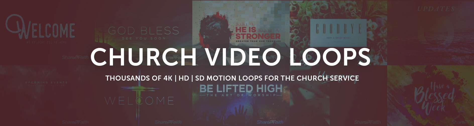 Church Motion Graphics | Church Video Loops | Sharefaith