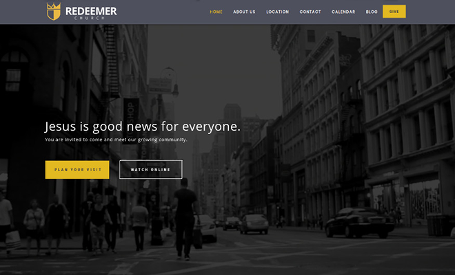 Sharefaith websites template redeemer