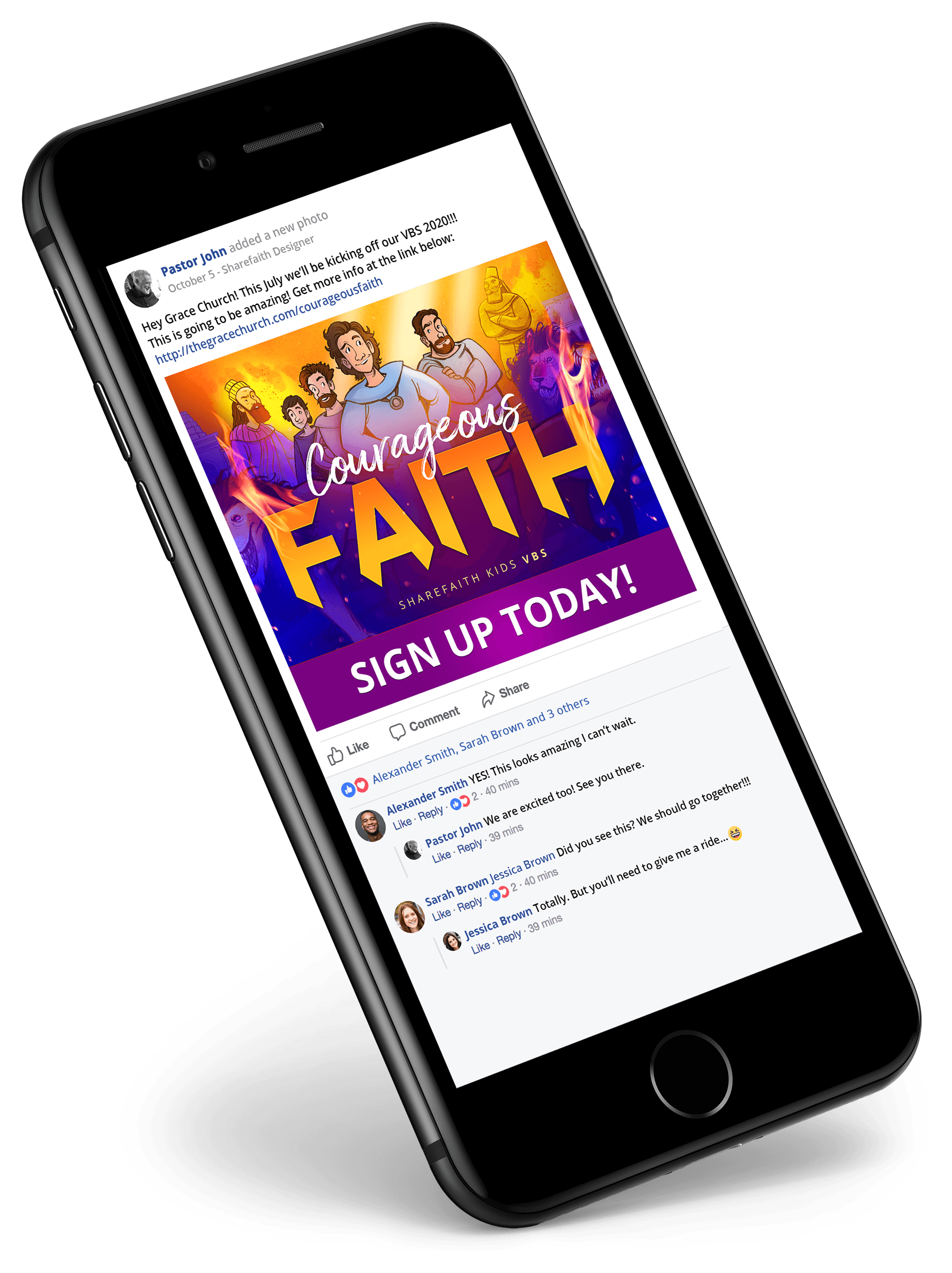 Sharefaith VBS Sharing On Mobile Device