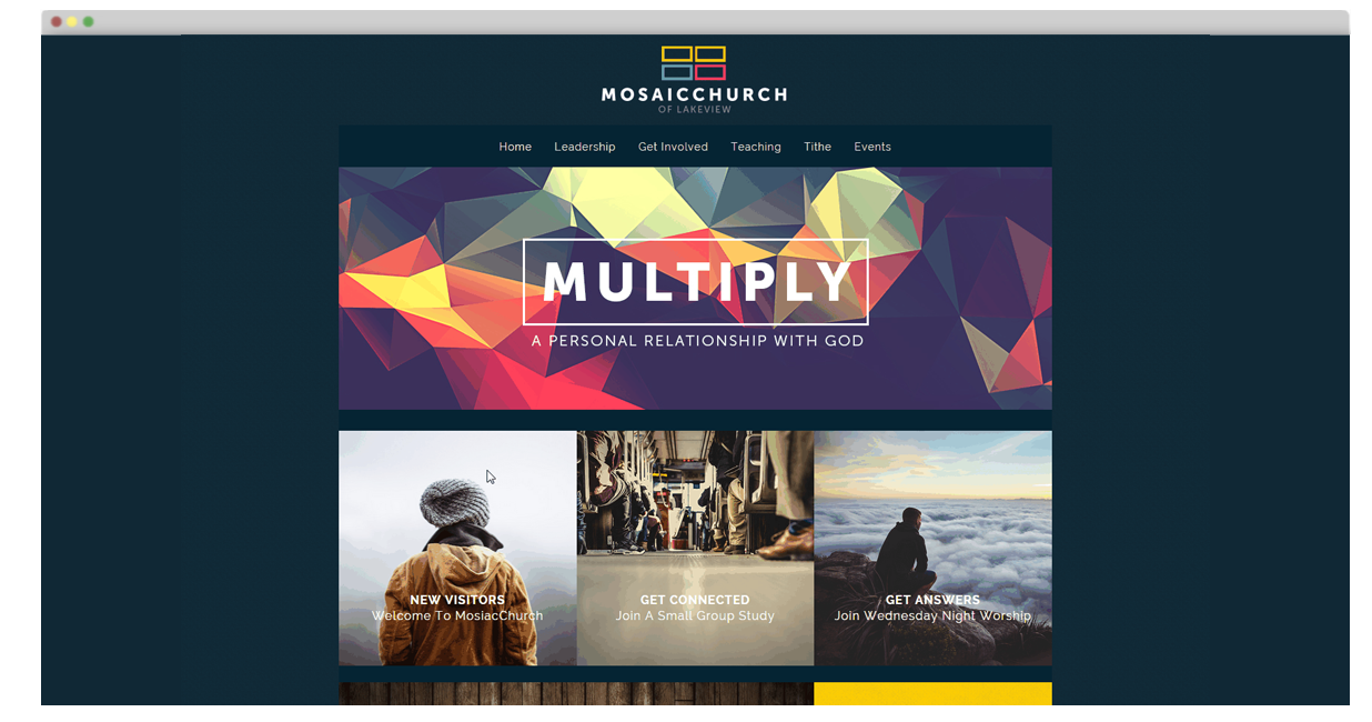 Parallax Church Websites Themes And Builder