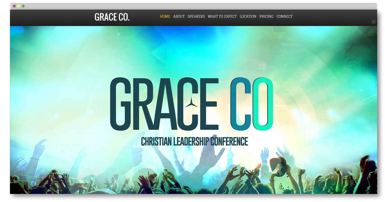christian conference website template