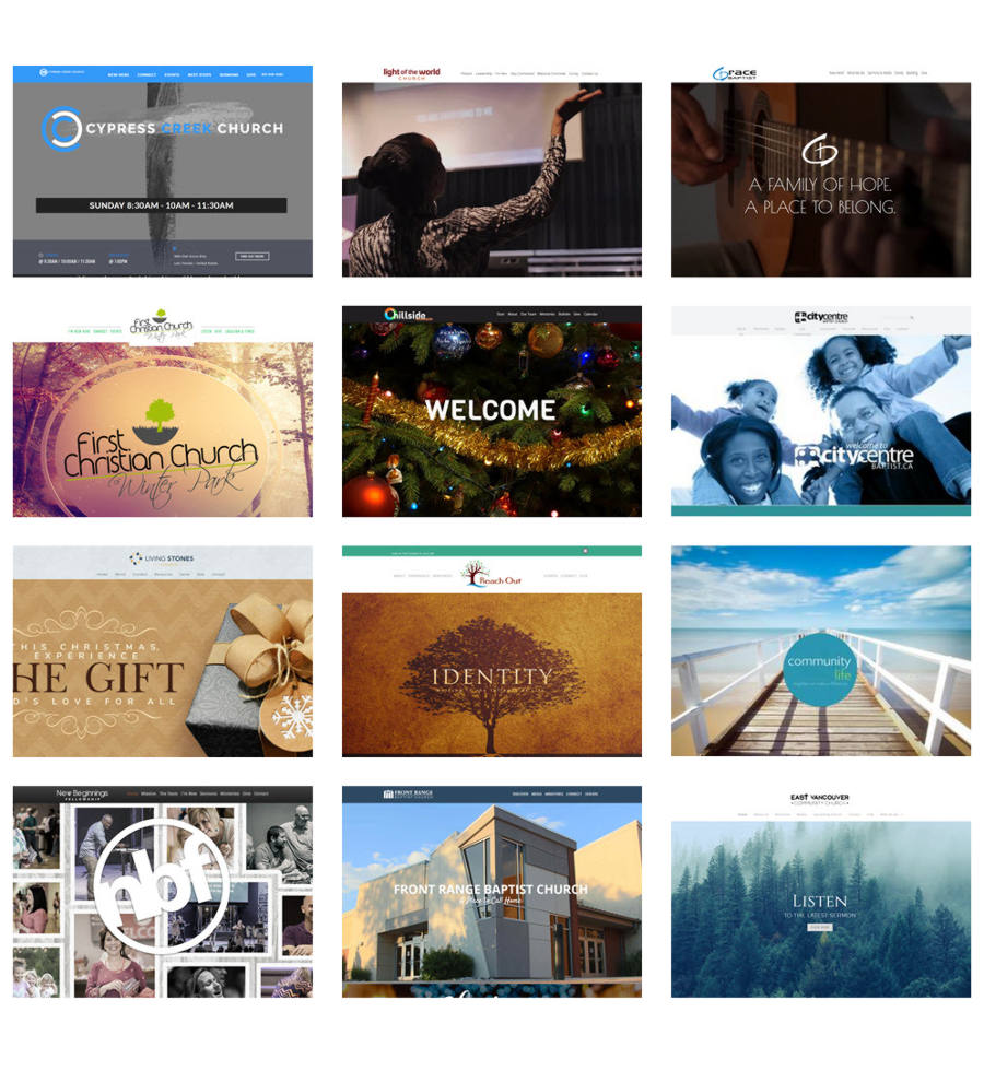 Many ministries use Sharefaith Church Websites!